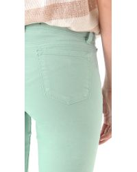 J Brand - Green 811 Mid Rise Luxe Twill Skinny Jeans - Lyst