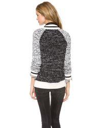 Jamison - Gray Fringe Cardigan Sweater - Lyst