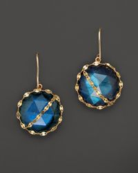 Lana Jewelry | Blue 14k Yellow Gold Mesmerize Earrings | Lyst