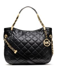 Michael Kors | Black Michael Selma Stud Mini Messenger | Lyst
