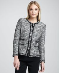 Neiman Marcus | White Zigzagtrim Tweed Jacket | Lyst