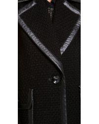 Rachel Zoe | Black Maxwell Oversized Coat | Lyst