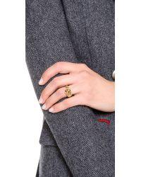 Rachel Zoe - Metallic Love Me Knot Single Knot Ring - Lyst