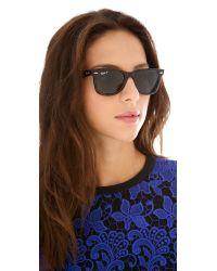 Ray-Ban - Green Polarized Wayfarer Sunglasses - Lyst