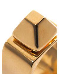 Saint Laurent | Metallic Clou Pyramid Stud Ring | Lyst