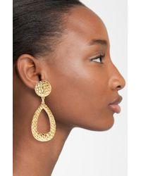 Simon Sebbag   Metallic Gold Crocodile Teardrop Earrings   Lyst