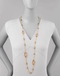 Alexis Bittar - Metallic Elements Crystal Pyrite Lace Necklace 42 - Lyst