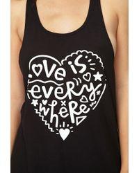 Forever 21 - Black Love Is Everywhere Pj Tank - Lyst
