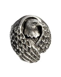 Paul Smith - Metallic Icon Brand Eagle Ring Exclusive To Asos for Men - Lyst