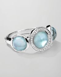 Ippolita | Metallic Stella Ring In Blue Topaz Over Mother-of-pearl With Diamonds | Lyst