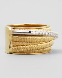 Marco Bicego | Metallic Diamond Cairo 18k Seven-strand Ring With Diamond Accent | Lyst