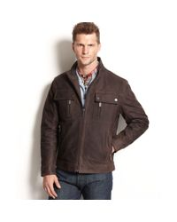 Michael Kors   Brown Lowell Four Pocket Leather Moto Jacket for Men   Lyst
