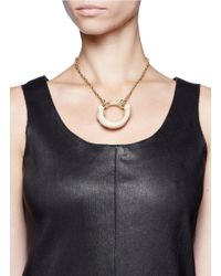 Os Accessories - White Mooneye Bone Necklace - Lyst