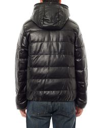 Duvetica | Black Dionisio Leather Down Jacket for Men | Lyst