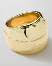Ippolita - Metallic 18k Gold Glamazon Hammered Ring - Lyst