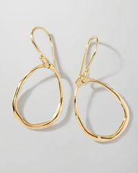 Ippolita | Metallic 18k Gold Mini Squiggle Open Teardrop Earrings | Lyst