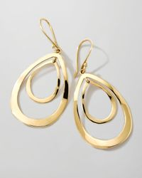 Ippolita - Metallic 18k Gold Open Double Teardrop Earrings - Lyst
