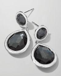 Ippolita - Metallic Stella 2-stone Drop Earrings In Hematite & Diamonds - Lyst