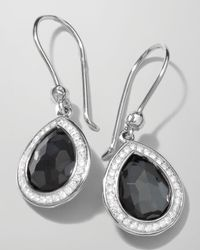 Ippolita - Metallic Stella Teardrop Earrings In Hematite & Diamonds - Lyst