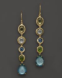 Ippolita - Yellow 18K Gold Rock Candy Gelato 5-Tier Drop Earrings In Tartan Sett - Lyst