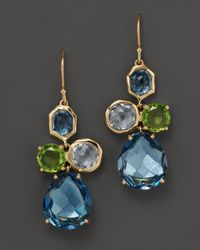 Ippolita | Yellow 18K Gold Rock Candy Gelato Earrings In Tartan Sett | Lyst