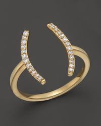 Khai Khai | Diamond Parenthesis Ring In 18k Yellow Gold, .15 Ct. T.w. | Lyst