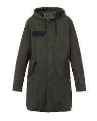 Marc By Marc Jacobs | Green Hooded Parka Coat | Lyst