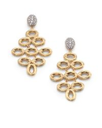 Marco Bicego | Metallic Siviglia Diamond, 18K Yellow & White Gold Chandelier Earrings | Lyst