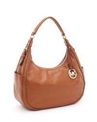 Michael Kors | Brown Large Bedford Shoulder Bag, Luggage | Lyst