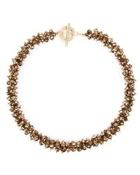 Ted Baker | Metallic Slinky Cluster Beaded Necklace 185 | Lyst