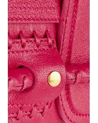 Alexander McQueen - Pink Folk Whipstitched Leather Clutch - Lyst
