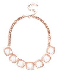 BaubleBar | Pink Rose Quad Crystal Necklace | Lyst