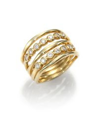 Ippolita | Metallic Stardust Diamond & 18k Yellow Gold Twilight Five-row Ring | Lyst