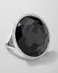 Ippolita - Metallic Stella Large Lollipop Ring In Hematite & Diamonds - Lyst