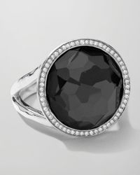 Ippolita | Metallic Stella Lollipop Ring In Hematite & Diamonds | Lyst