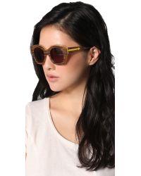 Karen Walker - Brown Soul Club Sunglasses - Lyst