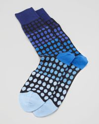 Paul Smith - Blue Faded Polkadot Mens Socks for Men - Lyst