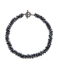 Ted Baker - Black Slinky Cluster Beaded Necklace 185 - Lyst