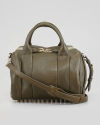 Alexander Wang - Brown Rockie Small Crossbody Satchel Bag Oliveyellow Golden - Lyst