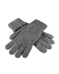Black.co.uk - Gray Men'S Grey Cashmere Gloves - 100% Cashmere for Men - Lyst
