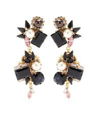 Erdem - Pink Exclusive To Mytheresacom Goldplated Crystal Earrings - Lyst