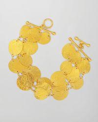 Gurhan | Metallic Contour 24k Gold Allaround 3strand Bracelet | Lyst