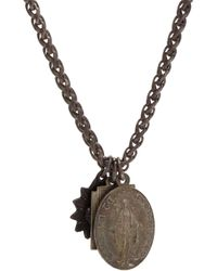 Miracle Icons - Metallic Antique Icon Necklace for Men - Lyst
