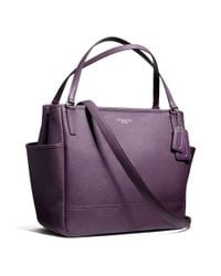 COACH - Pink Baby Bag Tote In Saffiano Leather - Lyst