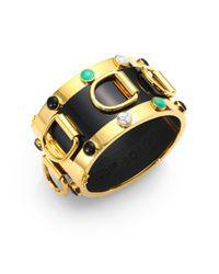 Eddie Borgo | Metallic Semiprecious Multistone Enamel Dring Cuff Bracelet | Lyst