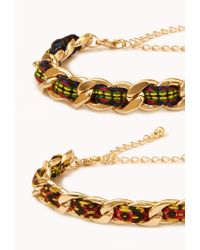 Forever 21 - Red Friendship Curb Chain Bracelets - Lyst