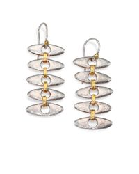 Gurhan - Metallic 24k Gold Sterling Silver Ellipse Link Drop Earrings - Lyst