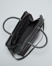 Halston - Gray Satchel Metal Frame Large - Lyst