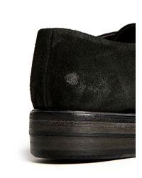 Marsèll - Black Contrast Toe-cap Derbies for Men - Lyst