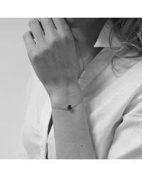 Monica Vinader - Green Linear Diamond Chain Bracelet - Lyst